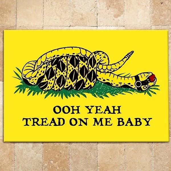 Ooh Yeah Tread On Me Baby Doormat2