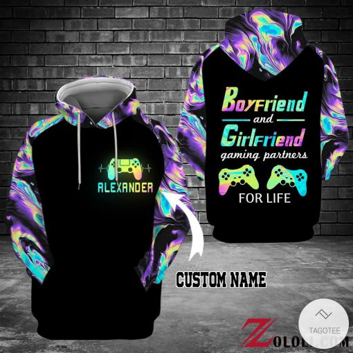 Personalized Boyfriend and girlfriend gaming partner for life 3D hoodies1