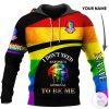 Personalized I don't need anyone's approval to be me 3D hoodie1