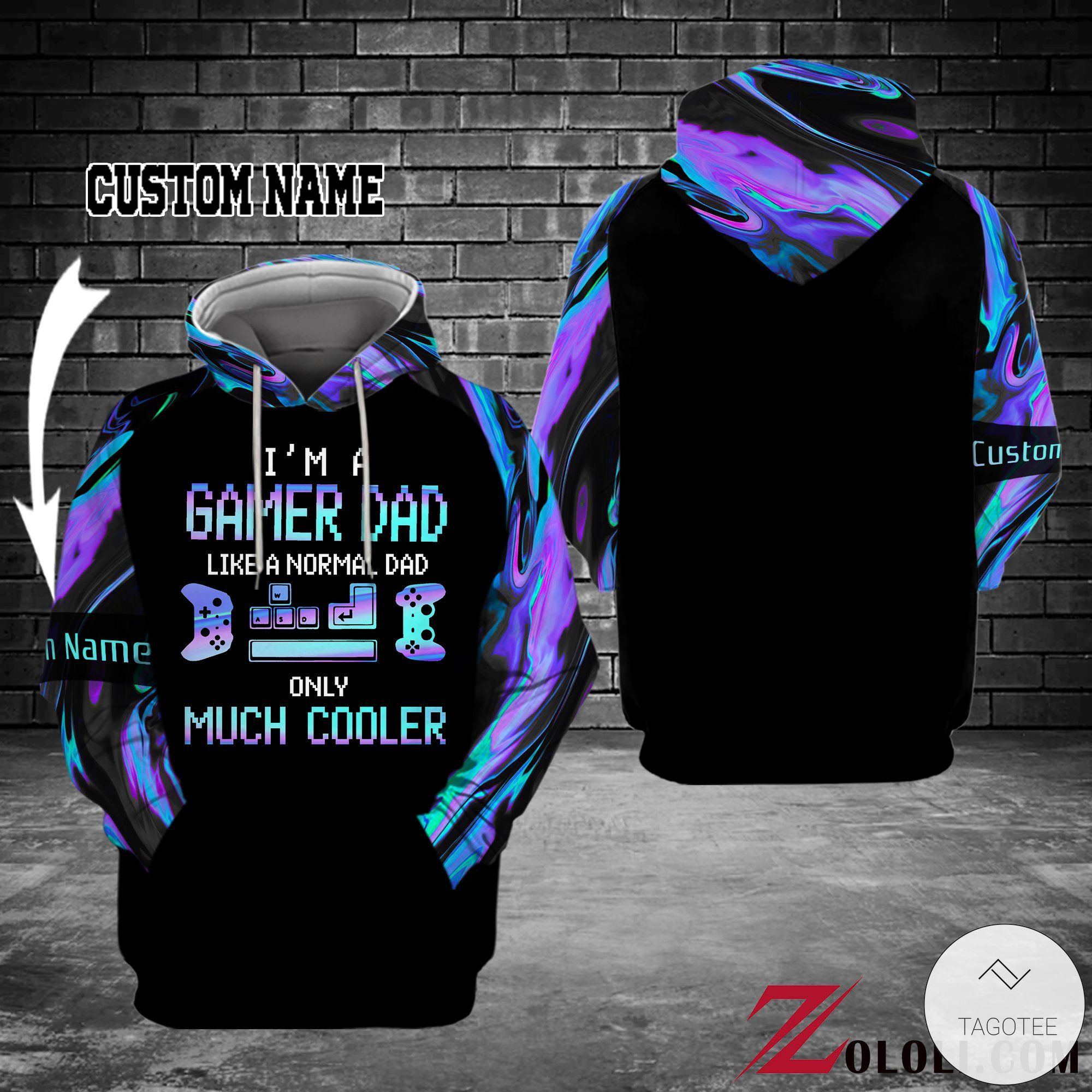 Personalized I'm a gamer dad Like a normal dad only much cooler 3D hoodies