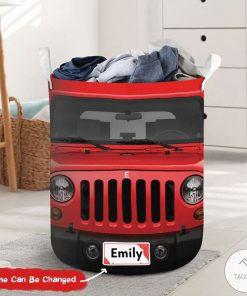 Personalized Jeep Laundry Basket