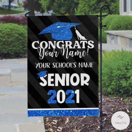 Personalized Senior Congrats Flag Garden Flag2