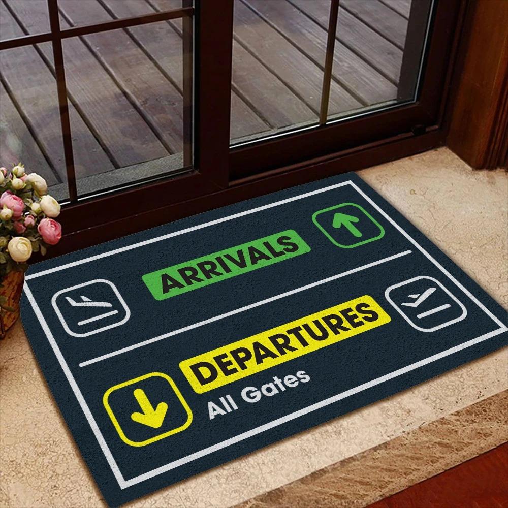 Pilot Departure Arrival Doormat