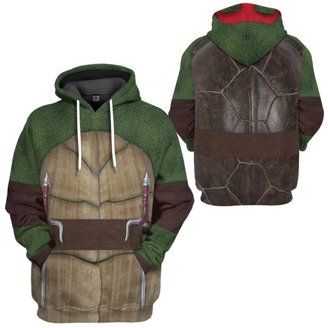 Raphael Ralph Teenage Mutant Ninja Turtles Custom 3D Hoodie1