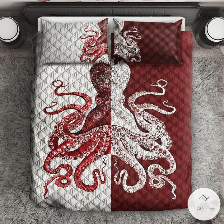 Red Octopus Bedding Sets