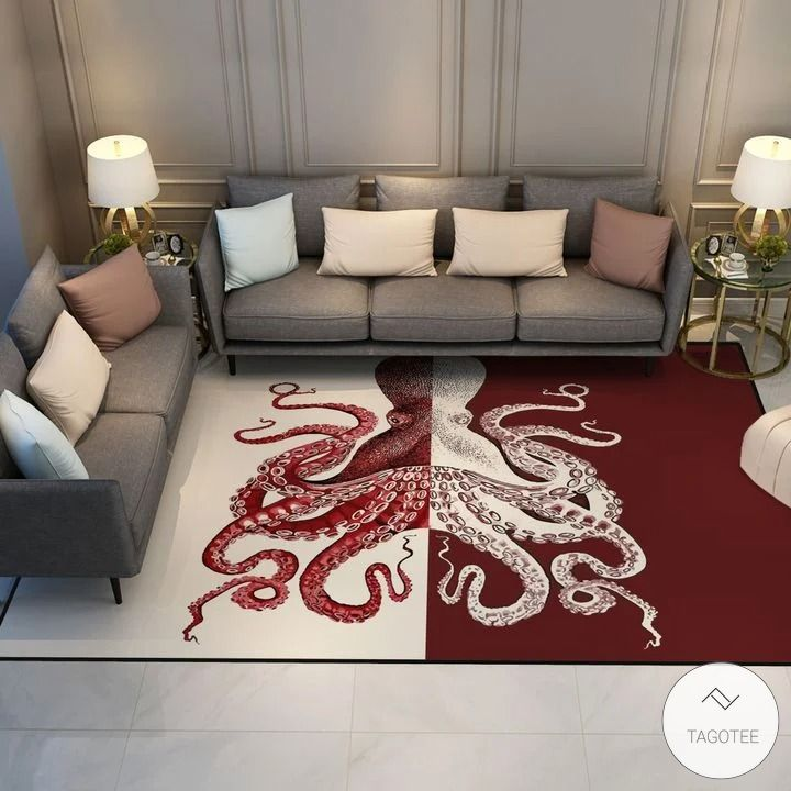 Red Octopus Rug