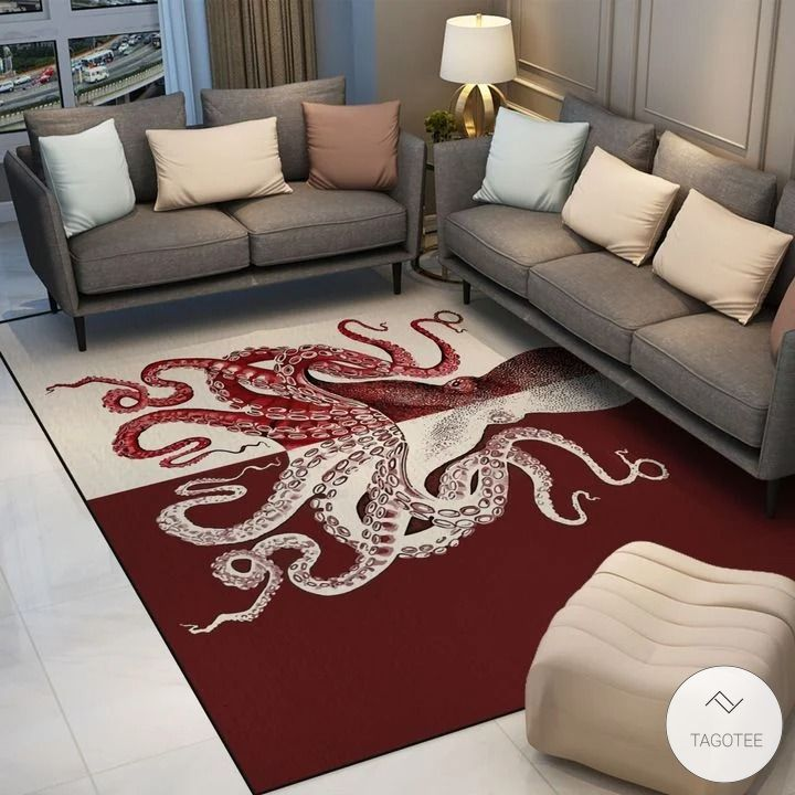 Red Octopus Rug2