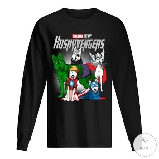 Siberian Husky Huskyvengers Shirt2