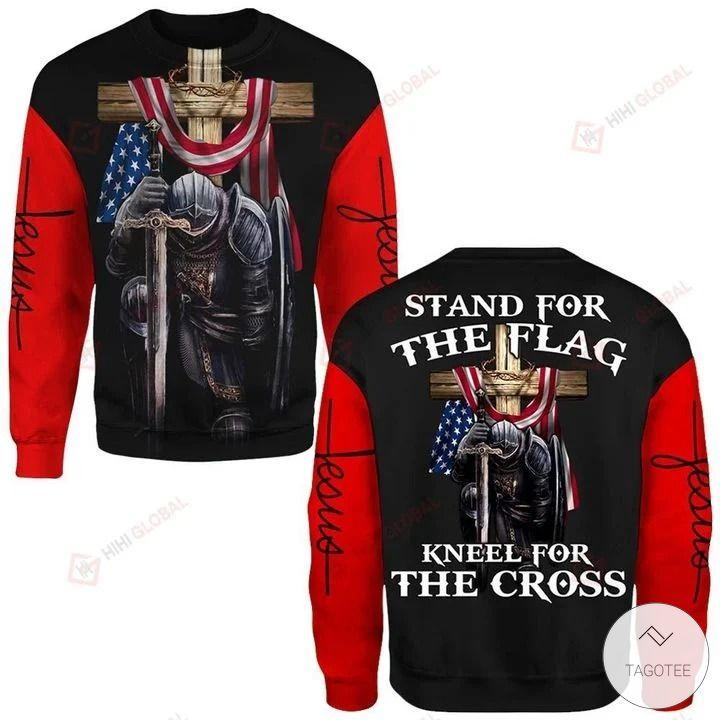 Stand For The Flag Kneel At The Cross Jesus Christ 3D Hoodies, Sweatshirt2