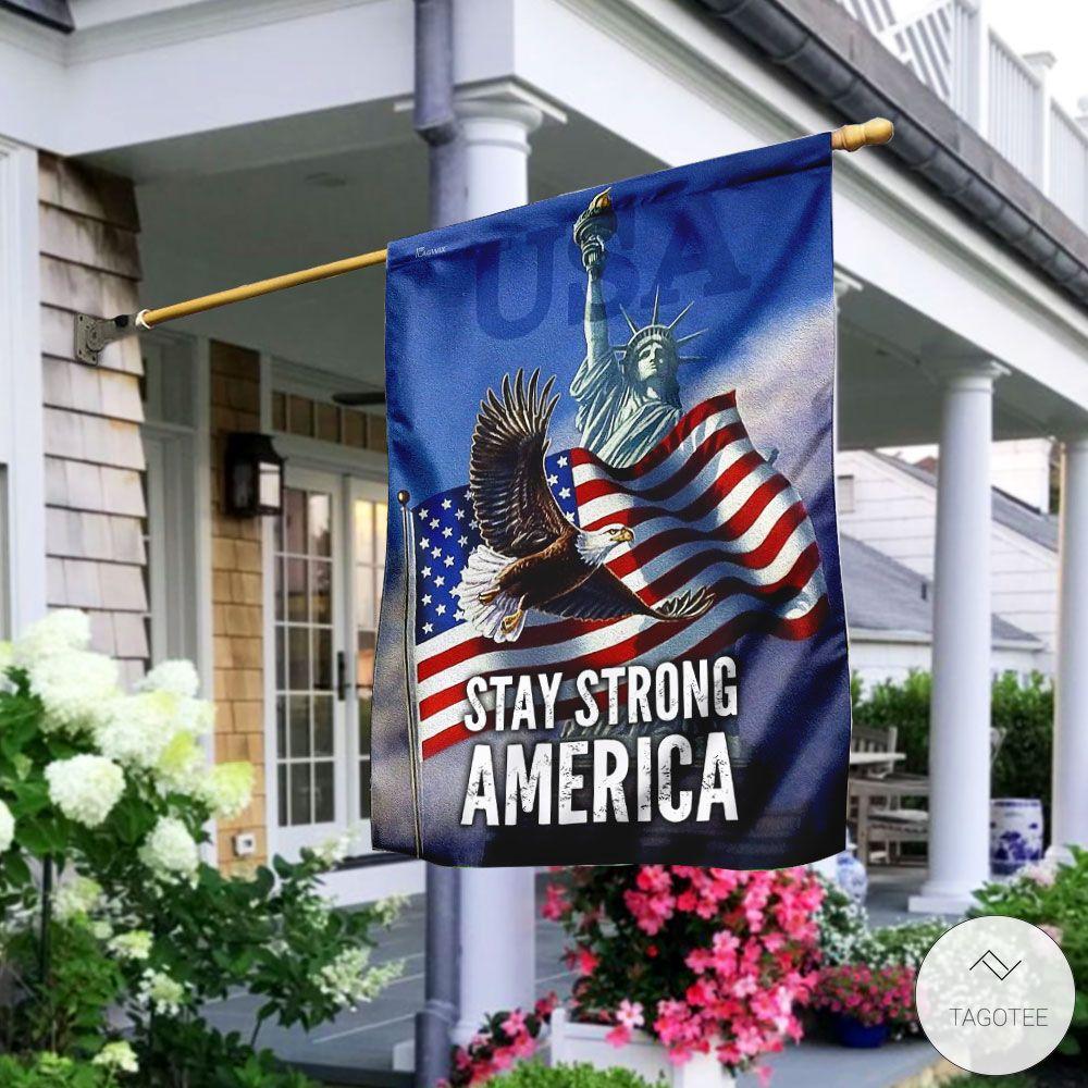 Stay Strong America Eagle Garden Flag