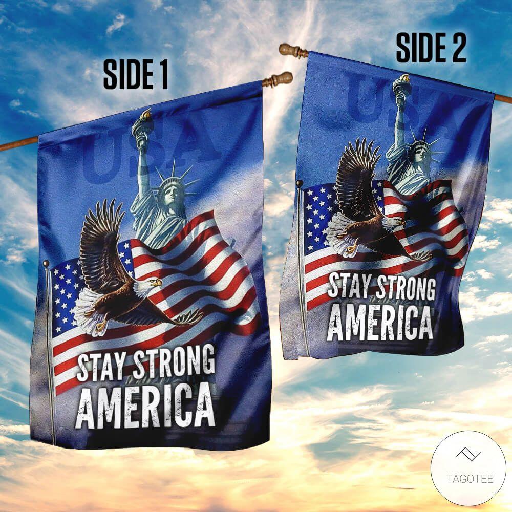 Stay Strong America Eagle Garden Flag4