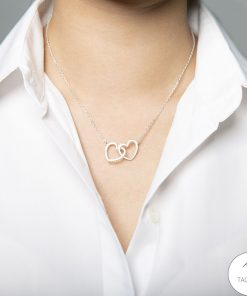 To my wife I'm not perfect I'll annoy you tease you say stupid things Interlocking Hearts Necklace 3