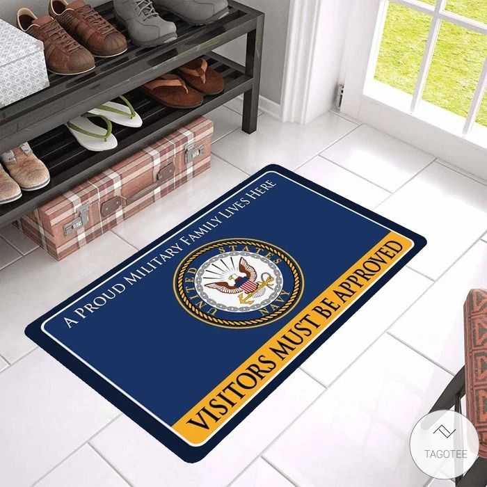 U.S. Navy A Proud Military Family Lives Here Visitors Must Be Approved Doormat3