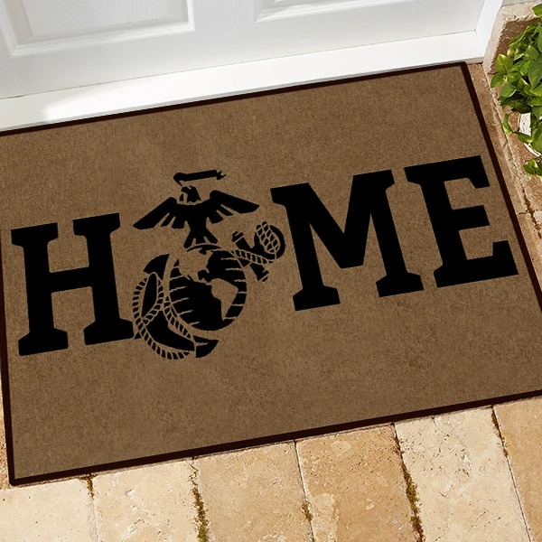 Father's Day Gift USMC Home Doormat