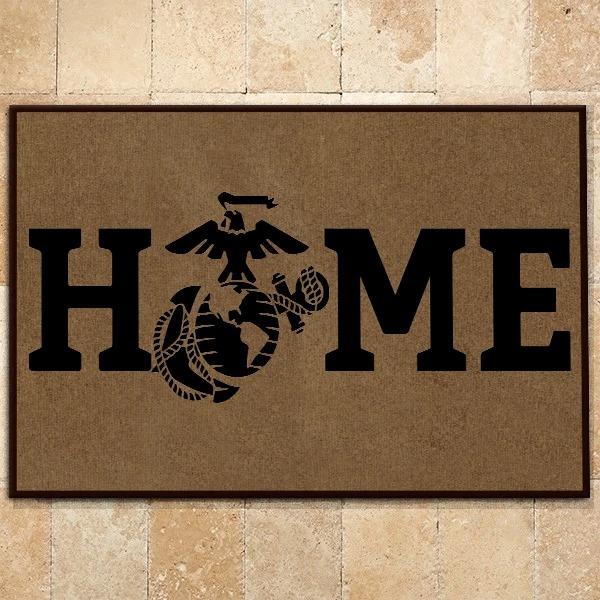 Beautiful USMC Home Doormat