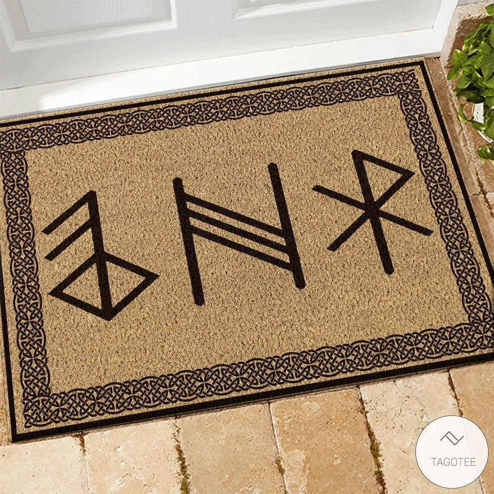 Viking Rune Symbols Doormat_result
