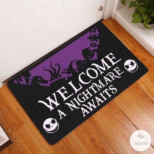 Welcome A Nightmare Awaits Doormat
