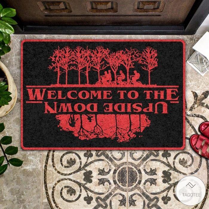Welcome To The Upside Down Doormat