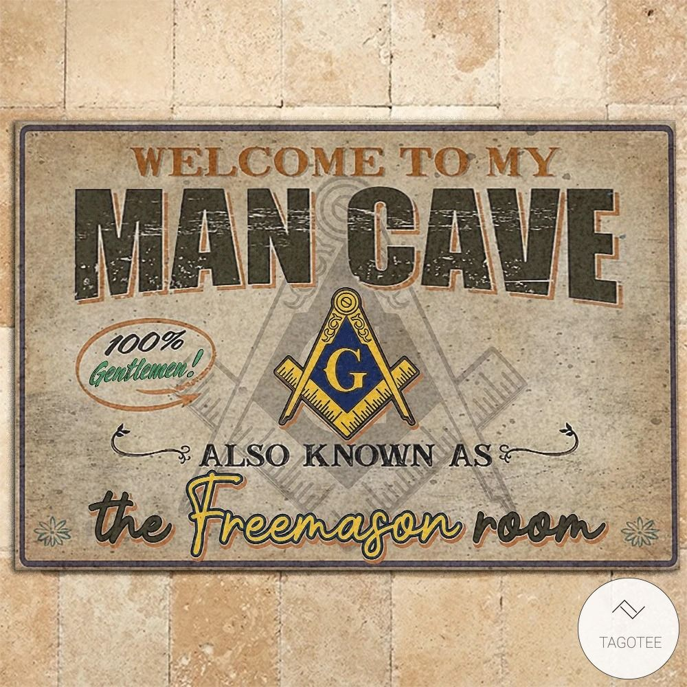 Welcome to my man cave also known as the freemason room doormat4_result