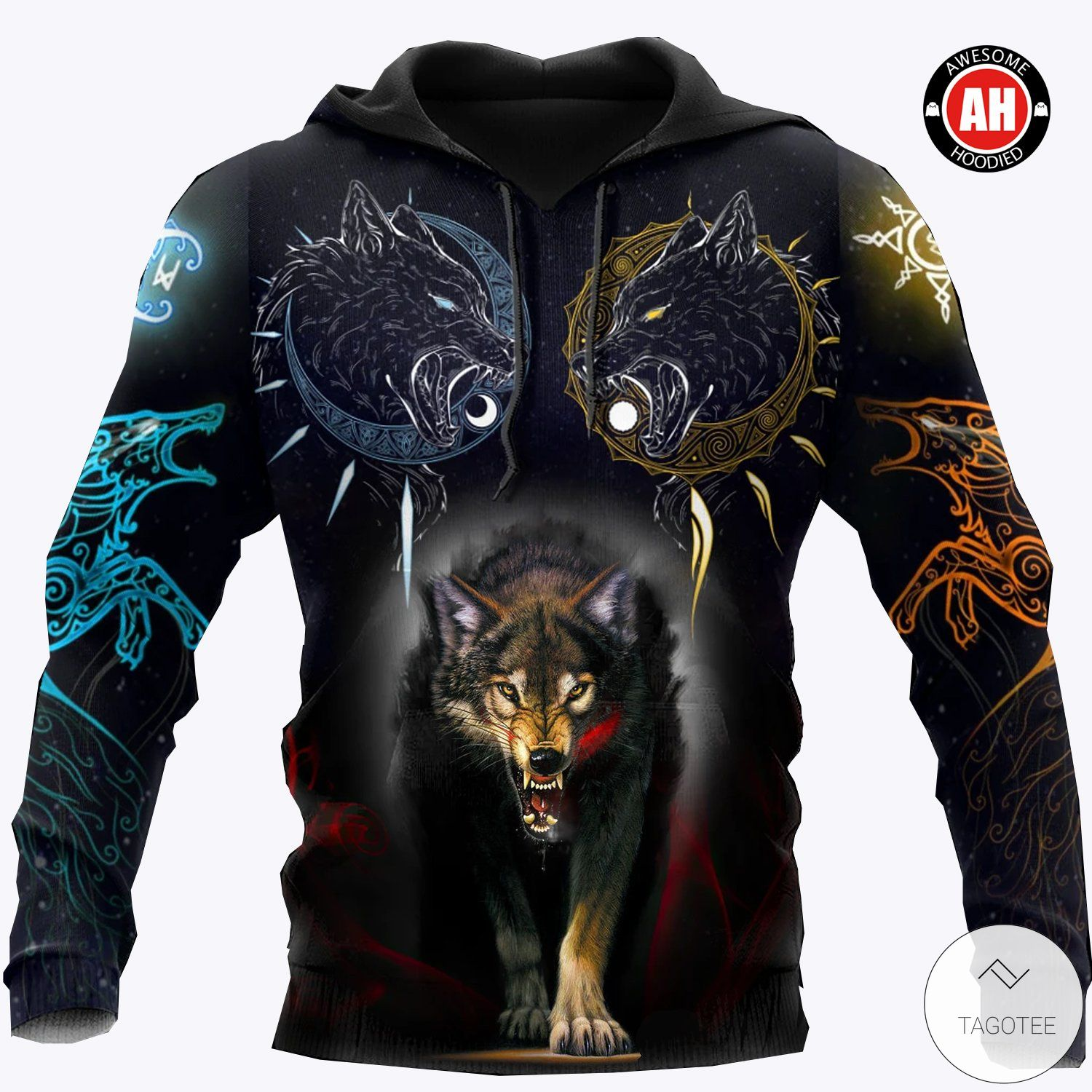 Wolf 3D All Over Print Hoodies, Sweatshirt and T-shirt