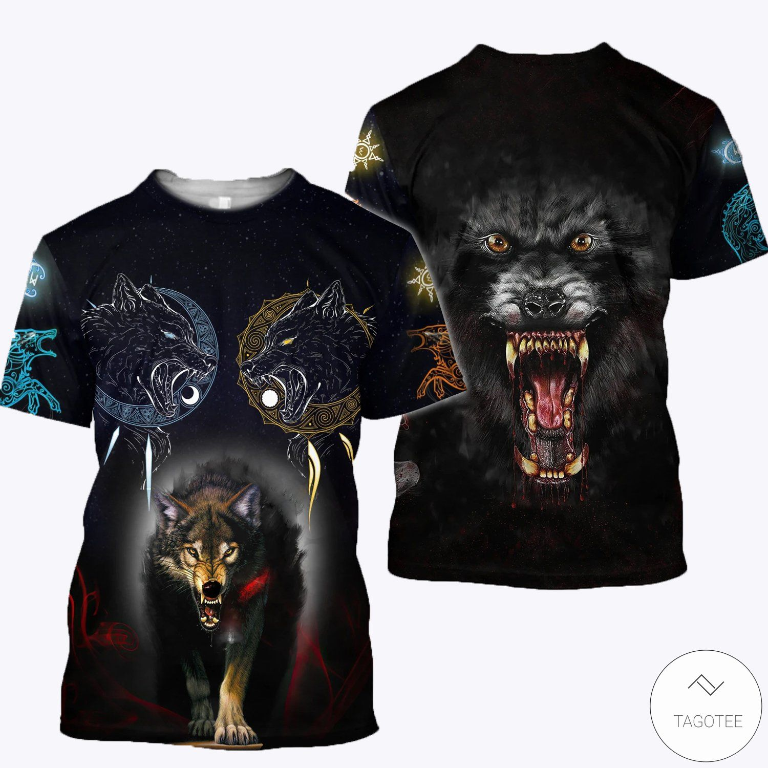 Wolf 3D All Over Print Hoodies, Sweatshirt and T-shirt3