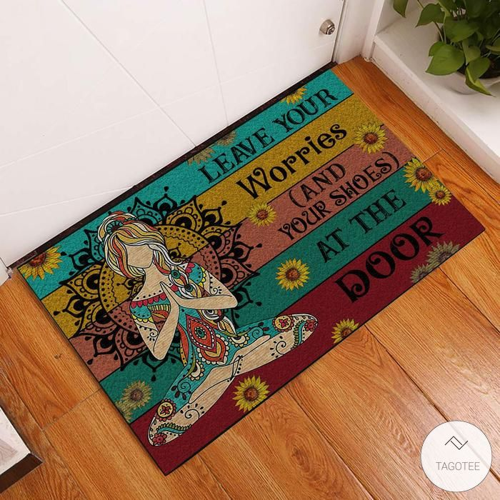 Yoga Leave Your Worries And Your Shoes At The Door Doormat