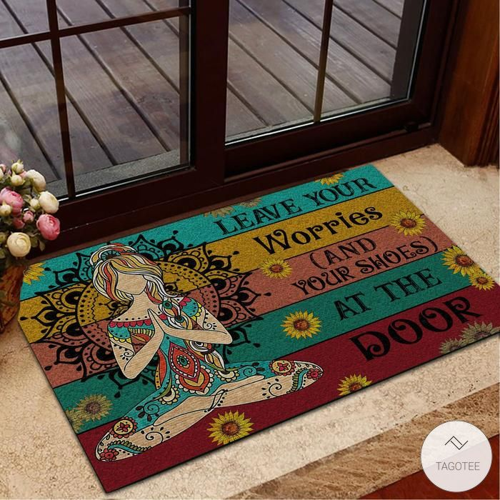 Yoga Leave Your Worries And Your Shoes At The Door Doormat4