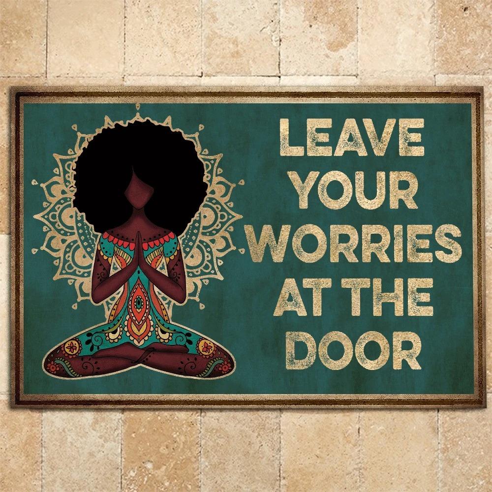 Yoga Leave Your Worries At The Door Doormat 2