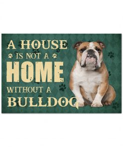 A house is not a home without a bulldog doormat