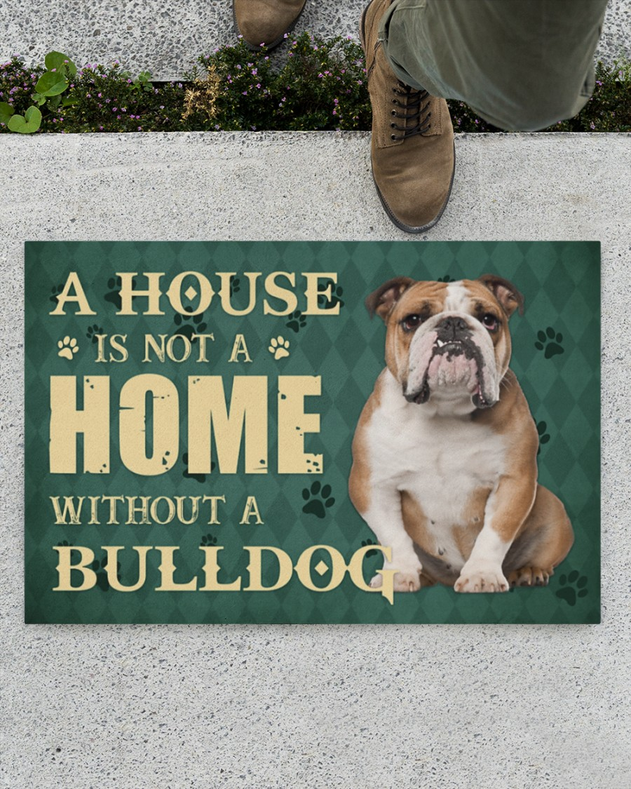 A house is not a home without a bulldog doormatz