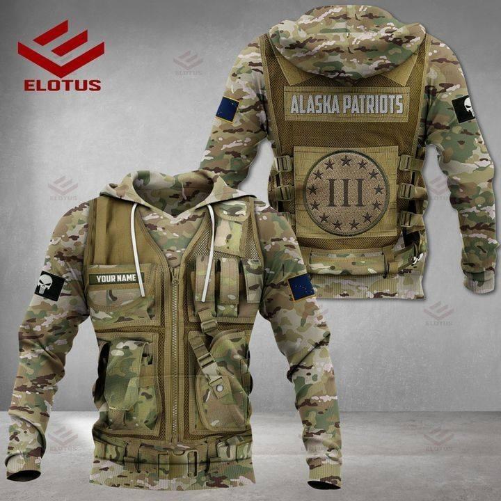 Alaska Patriots Military Camouflage 3D Hoodies