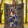 American Hunter Deer Skull Camo Fleece Blanket