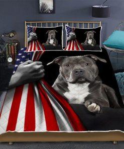 American Staffordshire Terrier Flag Bedding Sets