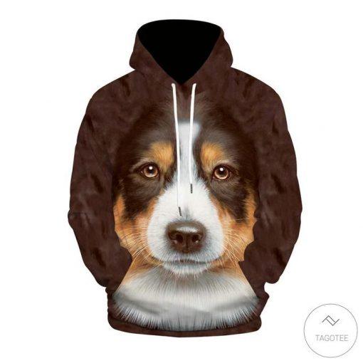 Australian Shepherd Brown 3D All Over Print Hoodie