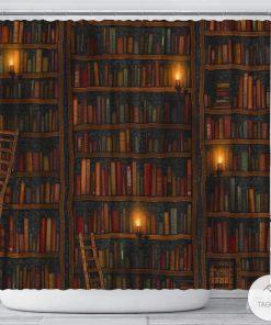 Bookshelf Shower Curtains