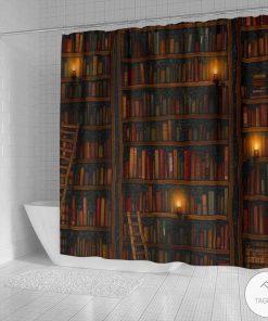 Bookshelf Shower Curtainsx