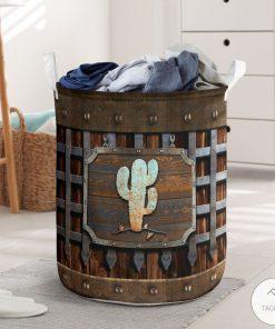 Cactus Iron Vintage Laundry Basket