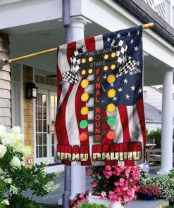 Drag Racing Garden Flag