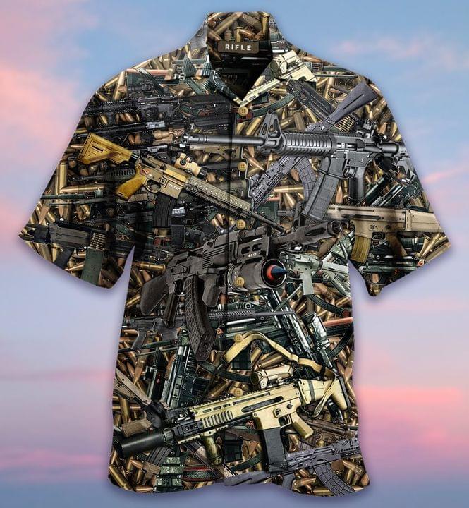Firearms Guns Hawaiian Shirt