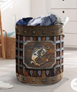 Fishing Iron Vintage Laundry Basket
