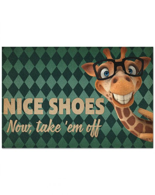 Giraffe - Nice Shoes Now Take 'Em Off Doormat