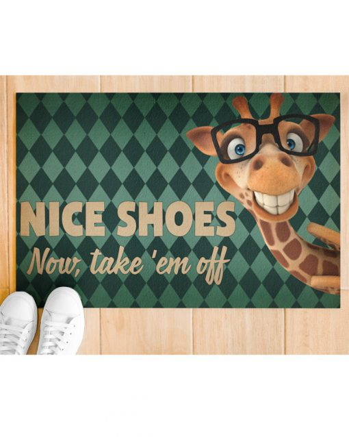 Giraffe - Nice Shoes Now Take 'Em Off Doormatc