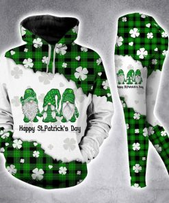 Gnomes St Patrick's Day 3D Hoodie and legging