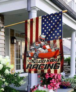 Go Kart Racing Garden Flag