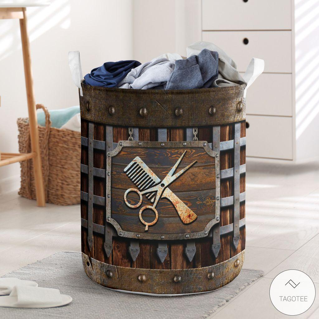 Hair Stylist Iron Vintage Laundry Basket