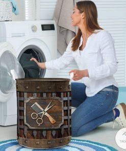Hair Stylist Iron Vintage Laundry Basket3