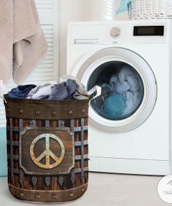 Hippie Symbol Iron Vintage Laundry Basketz