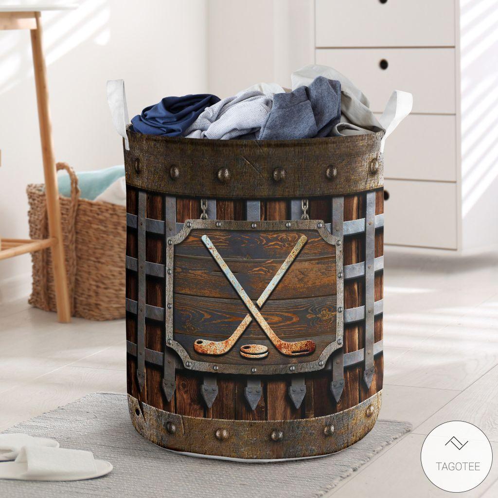 Hockey Iron Vintage Laundry Basket