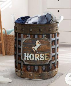 Horse Iron Vintage Laundry Basket