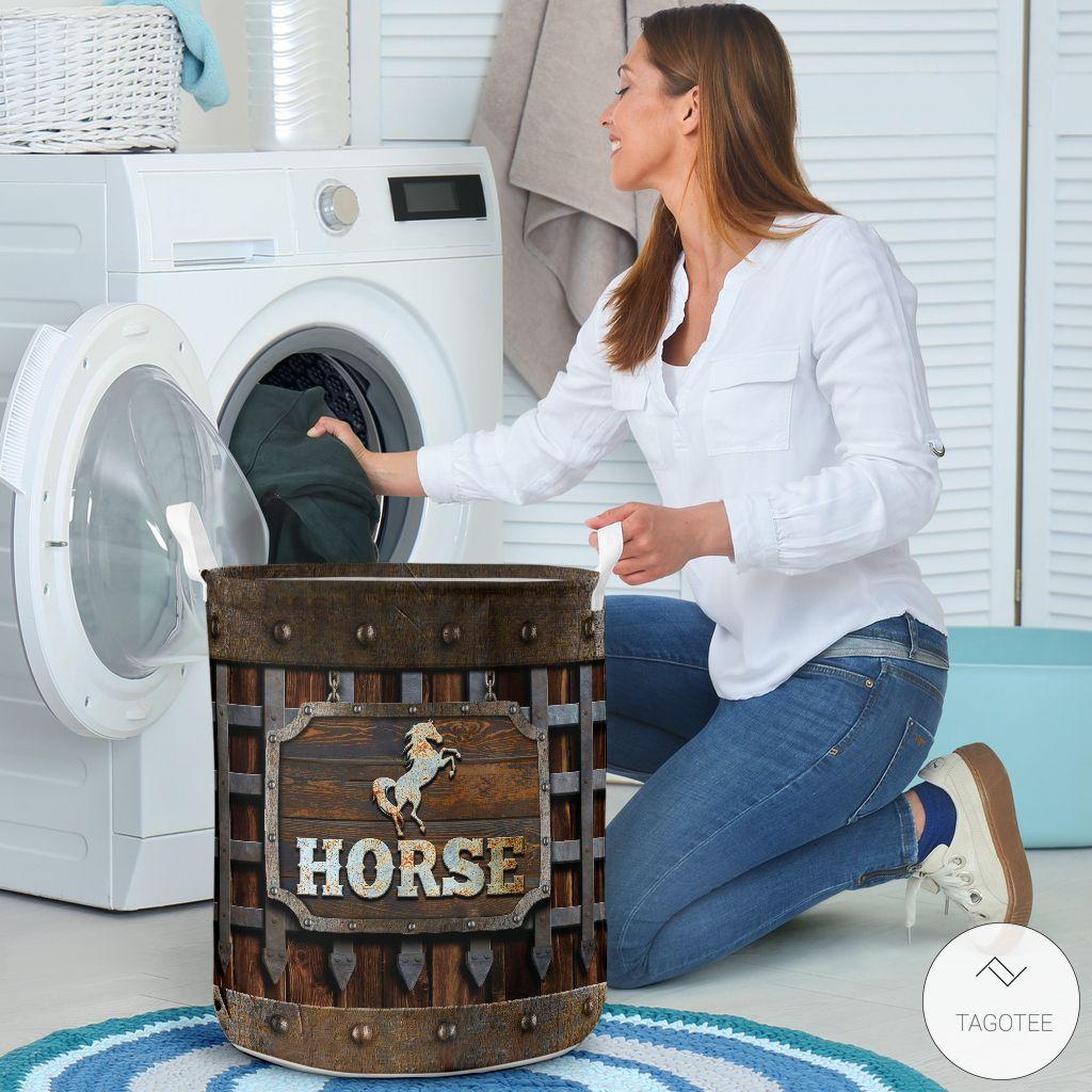 Horse Iron Vintage Laundry Basket3